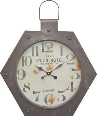 Three Hands 23.5 in. Hexagonal Wall Clock