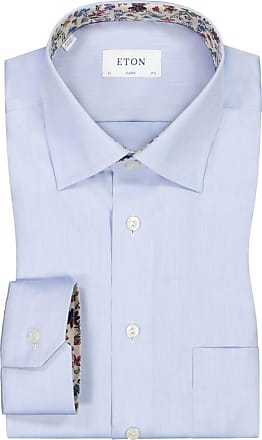 Eton Übergröße : Eton, Businesshemd mit Brusttasche in Hellblau für Herren