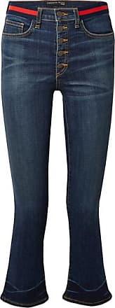 Veronica Beard Carolyn Cropped High-rise Flared Jeans - Blue