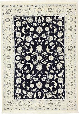 Nain Trading 150x104 Tappeto Fatto A Mano Nain 9La Grigio Scuro/Blu Scuro (Lana / Seta, Persia/Iran)