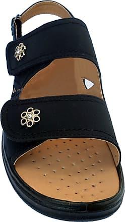 Cushion-Walk Womens Velcro Strap Sandals in Black - Samantha