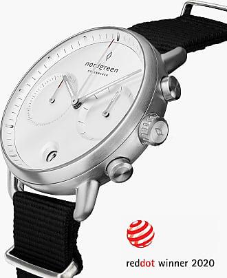 Nordgreen Pioneer | White Dial - Black Nylon - 42mm / Rose Gold