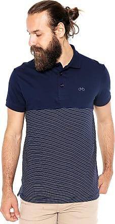 Iodice Camisa Polo Iódice Listrada Azul-Marinho/Branca