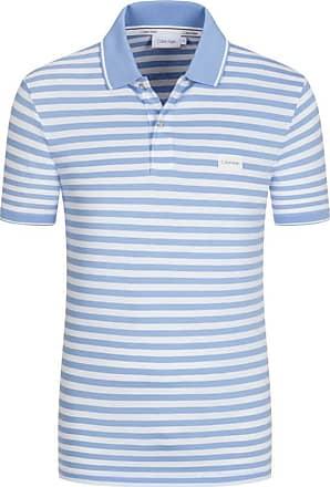 Calvin Klein Poloshirt, gestreift, Slim Fit von Calvin Klein in Hellblau für Herren