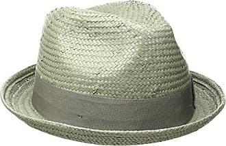 ff58256e21bf80 Brixton Mens Castor Straw Fedora Hat, Grey, Large