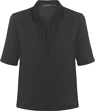 Shoulder Blusa Polo Preta