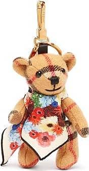 Burberry Thomas Bear Scarf Cashmere Key Ring - Womens - Brown Multi