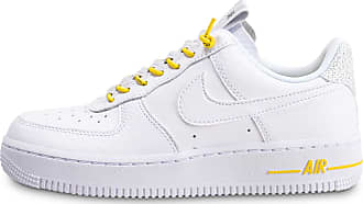 air force 1'07 lux blanc jaune femme