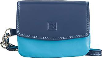 DuDu Mini borsettina donna in pelle a mano con laccetto polso di DUDU Blu