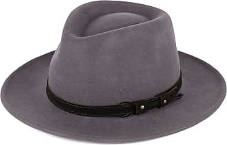 Hat To Socks Grey Wool Fedora Hat with Leather Belt Waterproof & Crushable Handmade in Italy