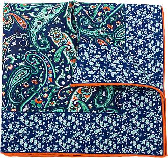 Kiton Lenço de bolso com estampa paisley - Azul