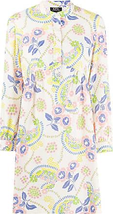 A.P.C. Vestido reto com estampa floral - Neutro