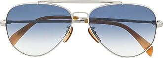 David Beckham Óculos de sol aviador DB 1004 - Prateado
