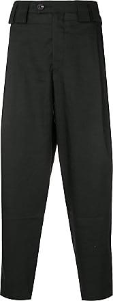 Ziggy Chen plain cropped trousers - Black