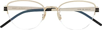 Saint Laurent Eyewear Óculos de sol oval - Dourado