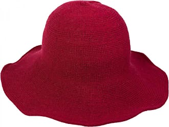 styleBREAKER Creased Knit-Look Fedora, Knitted hat, hat, Women 04025016, Color:Claret-Red
