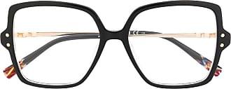 Missoni Armação de óculos quadrada oversized - Preto