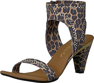 e39ffc89d4ee Onex Womens Dancer Heeled Sandal Leopard 9 M US