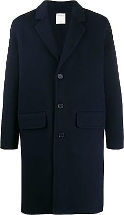 Sandro single-breasted fitted coat - Blue