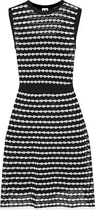 d70df32a502e M Missoni M Missoni Woman Metallic Knitted Cotton-blend Dress Black Size 40