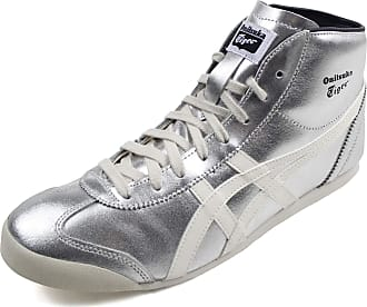 Onitsuka Tiger Unisex-Adult Mexico Mid Runner Sneaker, 9 UK, Pure Silver/Cream
