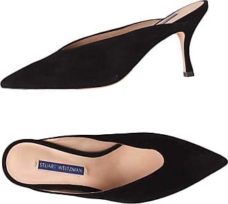 Stuart Weitzman Suede Leather Sabot with Heel 5 CM Black Size: 6.5 UK