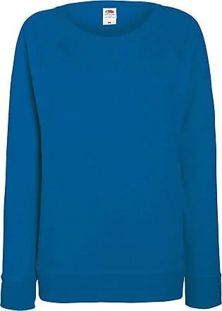 Fruit Of The Loom Ladies Fitted Lightweight Raglan Sweatshirt (240 GSM) (2XL) (Royal)