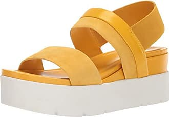 Franco Sarto Womens Velma Wedge Sandal, Summer Yellow, 10 M US