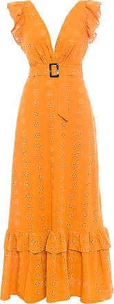Iorane Vestido Longo Babados - Amarelo