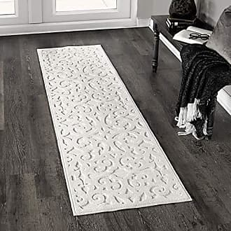 Orian Rugs Orian Sculpted 4704 Indoor/Outdoor High-Low Debonair Natural Runner Rug, 111 x 76, Ivory