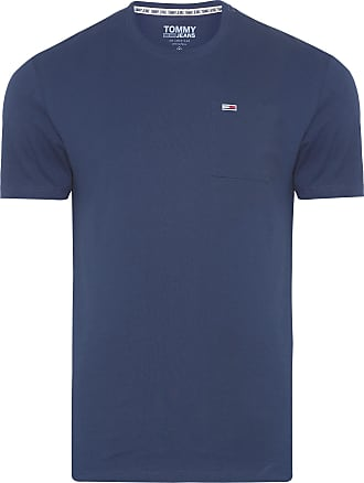 Tommy Jeans T-SHIRT MASCULINA WASHED POCKET - AZUL