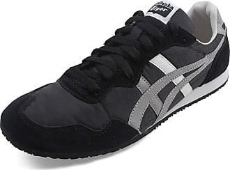 Onitsuka Tiger Mens Serrano Sneaker, Size: 4.5 D(M) US, Color: Blk/Lt Grey/Wht