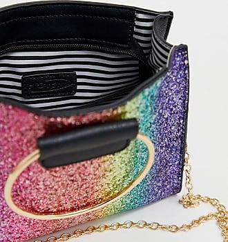 Yoki Fashion Yoki Rainbow Glitter Cross Body Bag - Multi