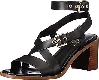 Franco Sarto Womens Halina Heeled Sandal, Black, 8.5 M US