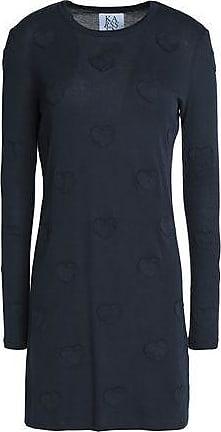 Zoe Karssen Zoe Karssen Woman Appliquéd Cotton-blend Jersey Mini Dress Navy Size M
