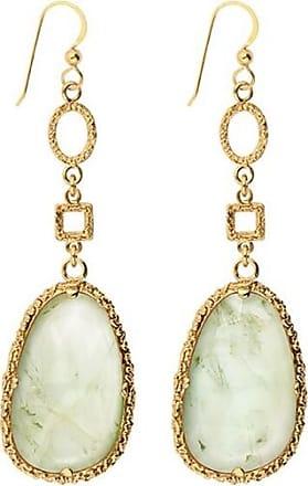 Emma Israelsson Drop Green Bronze Earrings