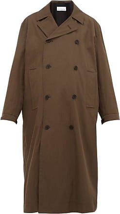 Raey Double-breasted Cotton-blend Coat - Mens - Brown