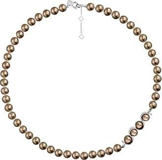 Misaki Collier ras de cou Initials de perles bronze
