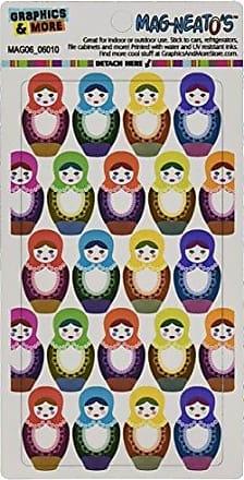 Graphics & More Russian Nesting Dolls on White Mag-Neatos Automotive Car Refrigerator Locker Vinyl Magnet