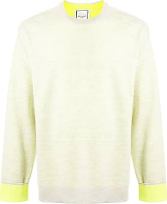 Wooyoungmi Suéter decote careca color block - Cinza