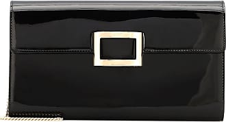 Roger Vivier Viv Envelope patent leather clutch