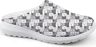 Coloranimal Travel Sports DailyShoes Wherever for Women Cat Puzzle Garden Clogs US5