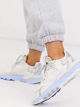 adidas Originals Nite Jogger - Sneaker in Weiß und Blau