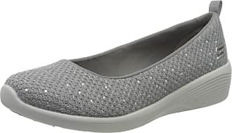 Skechers Womens Arya Sweet Glitz Slip On Trainers, Grey (Gray Metallic Knit/Light Gray & Silver Trim Gry), 2.5 (35.5 EU)