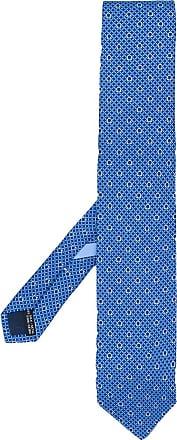 Salvatore Ferragamo Gravata Gancio estampada - Azul