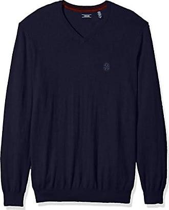 Izod Mens Big and Tall Premium Essentials Solid V-Neck 12 Gauge Sweater, Navy Peacoat, 4X-Large