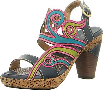 f629ac7fb14 Laura Vita Vessa Jeans Womens Sandals Teal Multicolour - 39 EU
