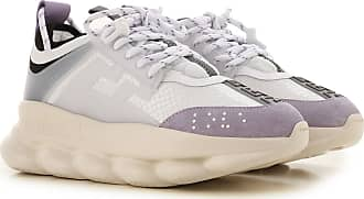 Versace Sneakers for Women On Sale, White, suede, 2017, 11 5.5 6 7