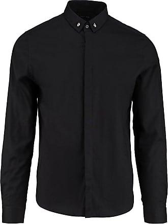 Religion Mens Skull Casual Shirts, Black (Jet Black), X-Large