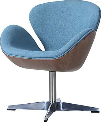 New Pacific Direct 6300043-274 Clayton Fabric Swivel Accent Chairs, One Size, Flint Blue